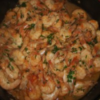 Chili Garlic and White Wine Prawns