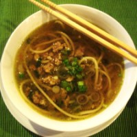 Pork and Udon Noodle Soup