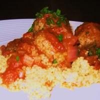 Beef, Oregano & Tomato Meatballs with Quinoa
